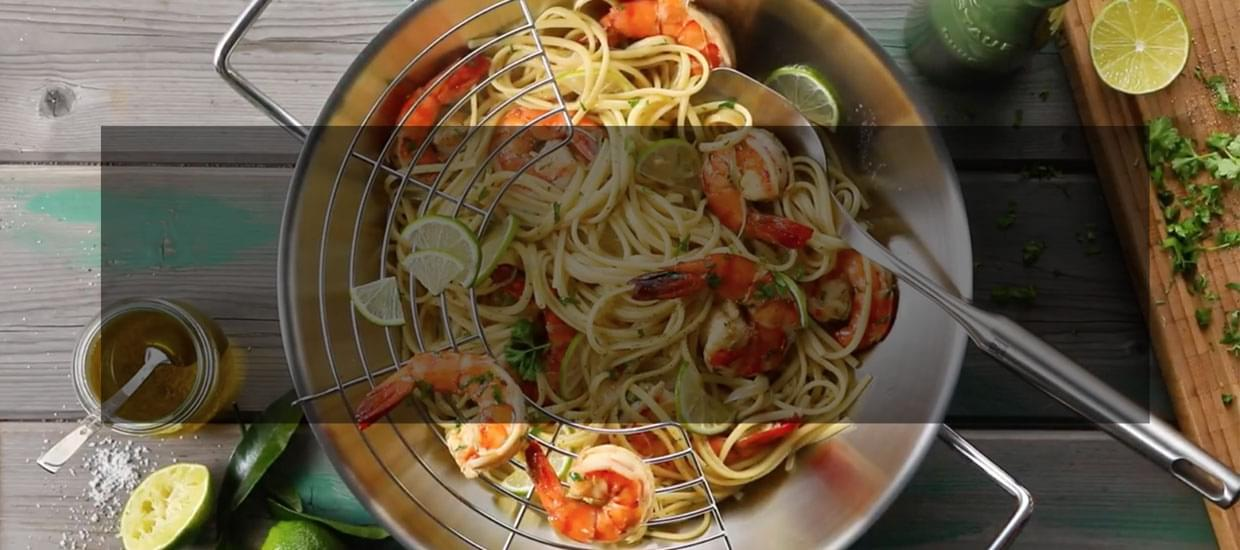Linguine with Shrimps